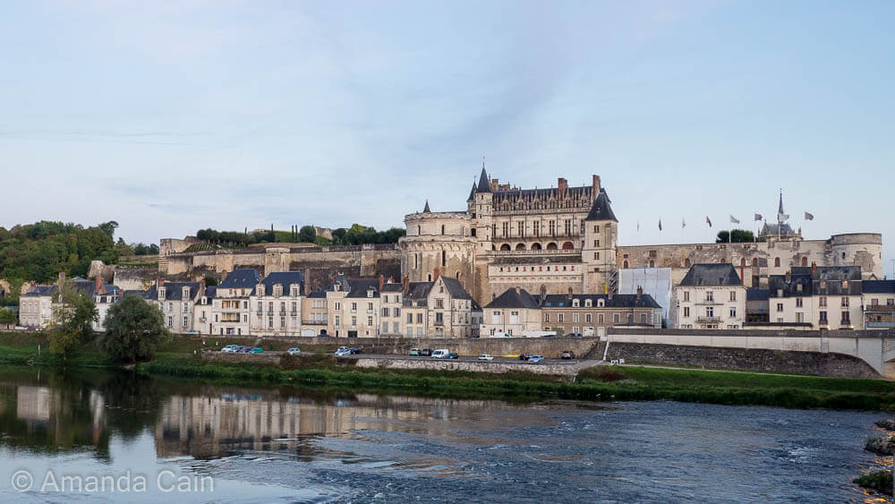 Amboise Chateau and the old town along the banks of the Loire River.