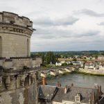 The view over Amboise and the Loire River from Amboise Chateau.