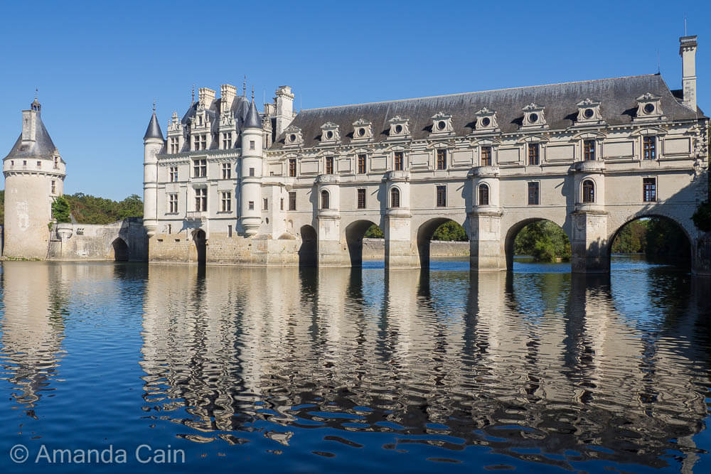 Chenonceau Chateau is actually a fortified bridge over a river.