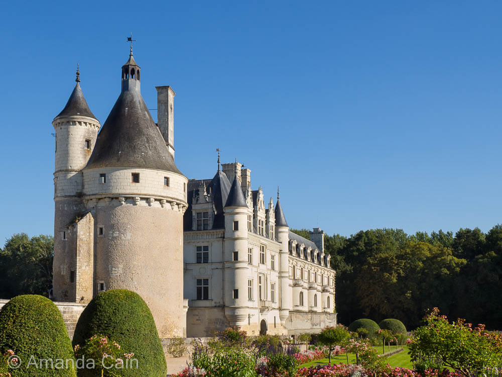 Chenonceau Chateau and its carefully manicured gardens.