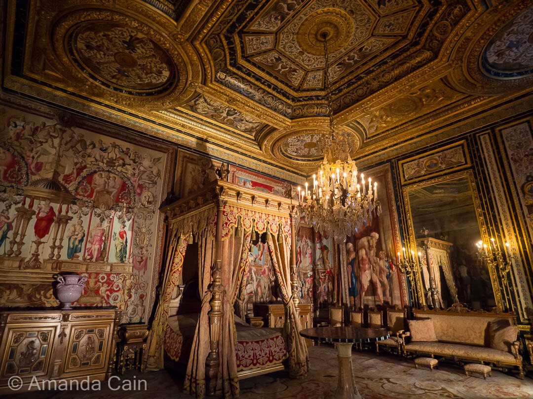 A glimpse into how French royalty used to live at the Chateau of Fontainebleau.