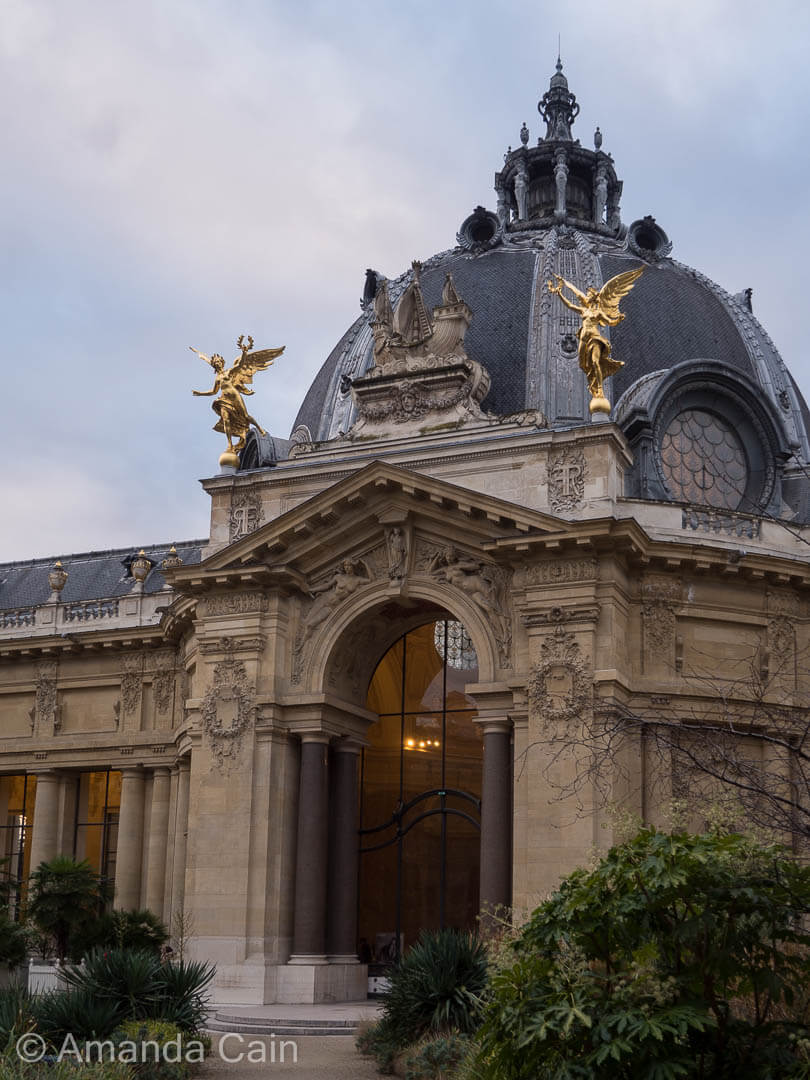 Inner courtyard of the Petit Palais in Paris.