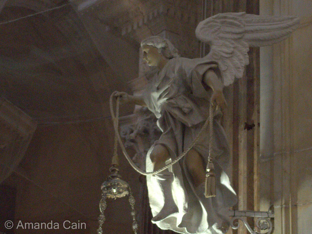 Angel in Cadiz Cathedral.