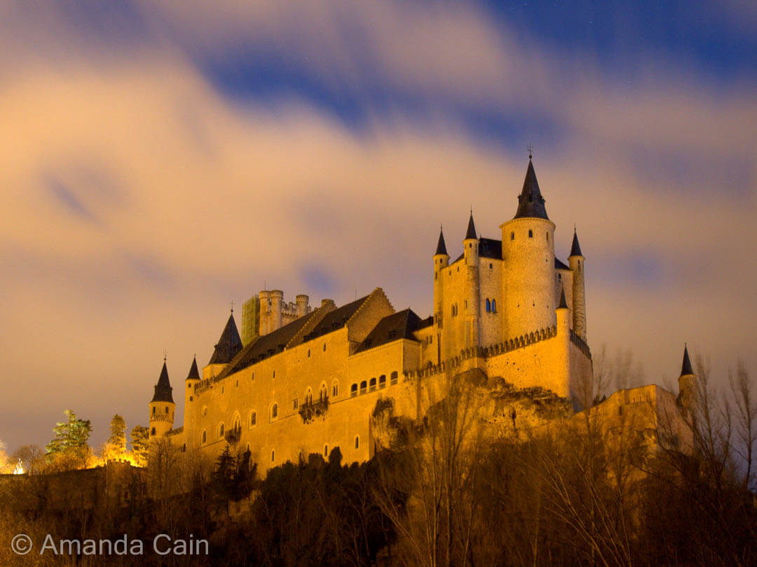 The Alcazar of Segovia which apparently was the inspiration for Disneyland's Cinderella Castle.