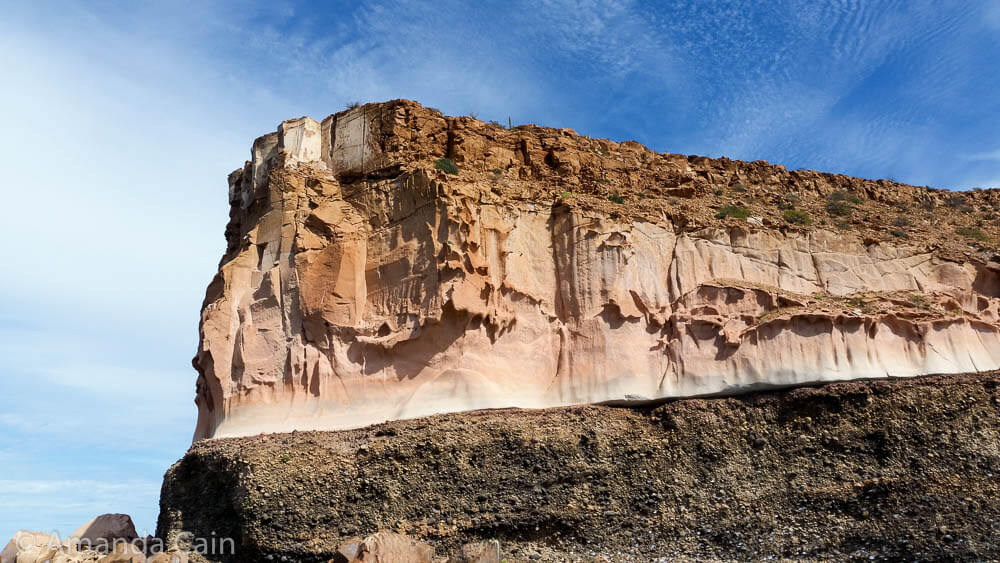 The amazing rock formations of Espiritu Santo Island.