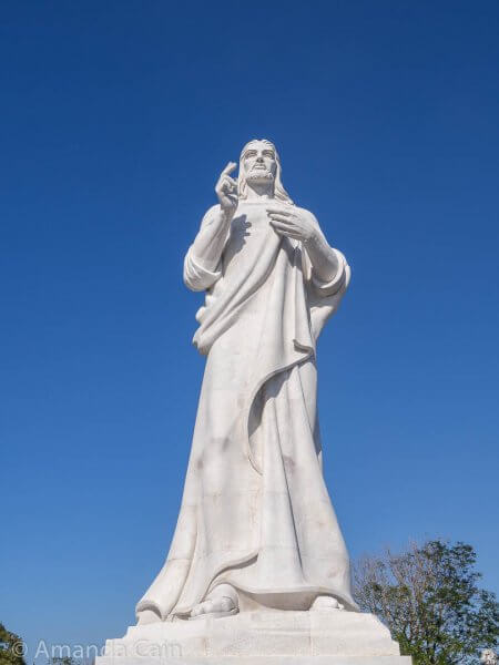 This huge statue of Christ looks across the harbour to Havana. All 67 of the marble blocks came from Italy, and were all blessed by the pope. This makes it a very holy statue.