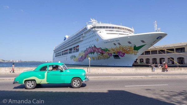 Havana is a popular stop for cruise ships.