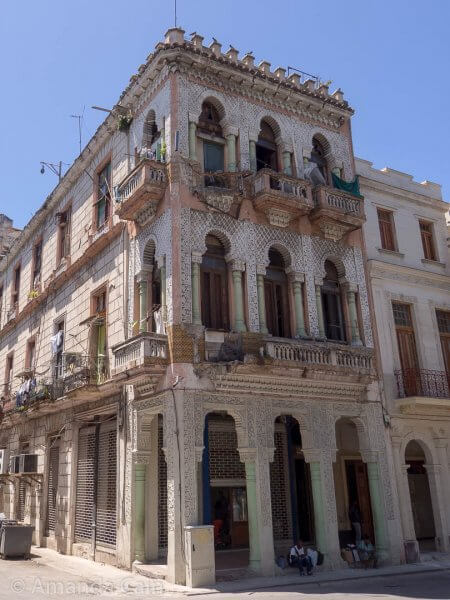 A beautiful old house in Havana crumbling away because there's not enough money to maintain it.