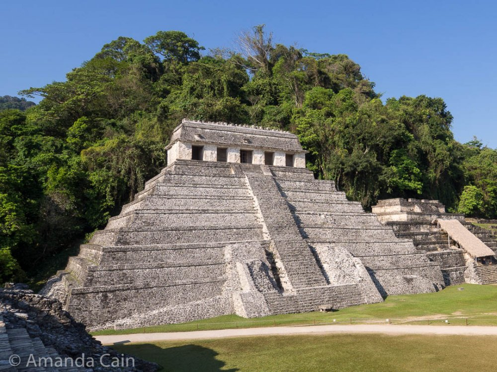 Palenque's iconic building: the Temple of the Inscriptions.