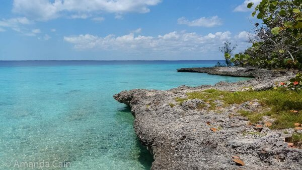 Crystal clear waters in the Bay of Pigs.