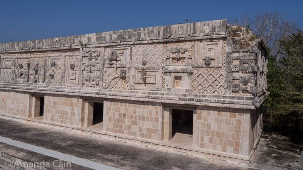 One of the palaces surrounding the Nun's Quadrangle in Uxmal.