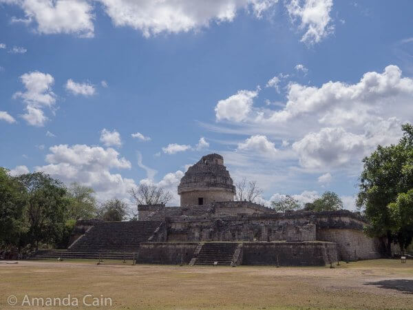 The Observatory of Chichen Itza. Archaeologists think that the Mayans built it to make astronomical observations (in particular, Venus) because of the positions of the doors and windows of the building.