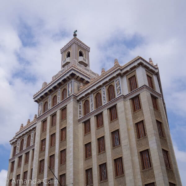 Another one of Havana's standout buildings: the Bacardi Building. If you look at the very top of it you can see the Bacardi bat.