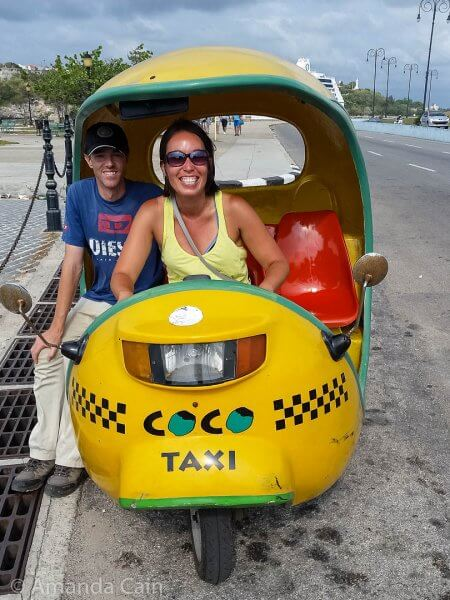 On our last day in Cuba we finally got a ride in a coco cab!