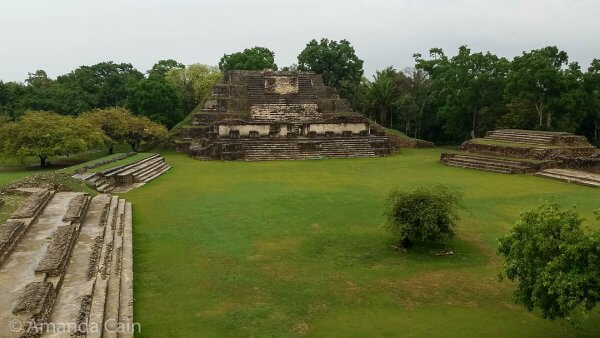 The ruins of Altun Ha in Belize. The main pyramid-temple in the middle appears on bottles of the national beer: Belikin.