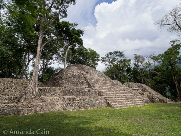Pyramid-temples at Cahal Pech.