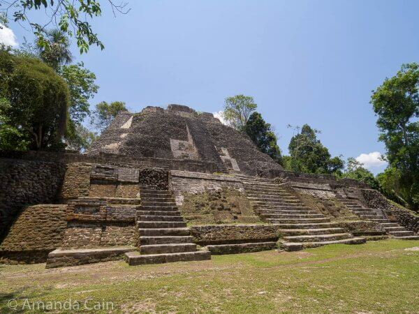 The High Temple of Lamanai; a huge pyramid with views over the surrounding jungle.