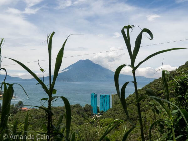 At Lake Atitlan you have beautiful views of volcanoes and rugged mountains, and then you see these hideous buildings by the lakeside.