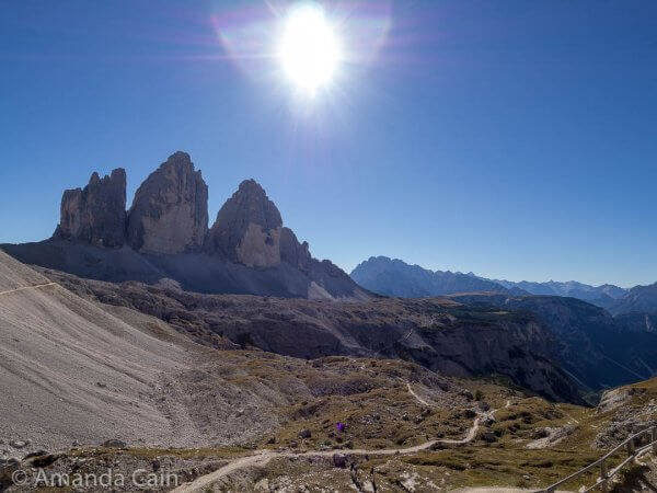 The famous Tre Cime, or Three Peaks, of Italy's Dolomites.