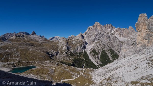 This spot wins for the most epic scenery that we saw in the Dolomites.