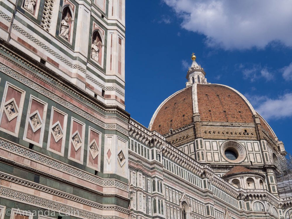 The iconic Duomo of Florence, with its huge 115m tall dome.