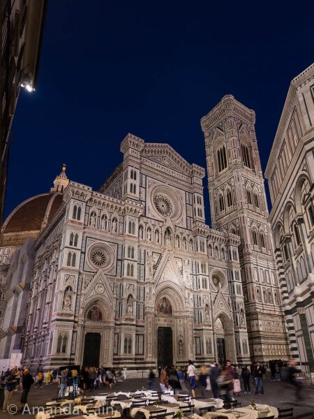 Florence's Duomo. So much shiny white marble...