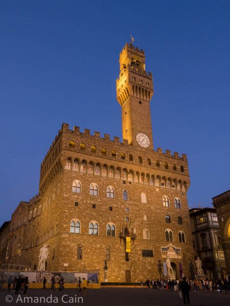 The medieval castle/palace of Palazzo Vecchio.