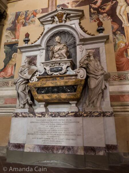 Galileo's tomb. The fancy one they were finally able to build 100 years after his death.